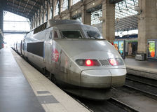 SNCF del tren de alta velocidad del TGV Foto de archivo libre de regalías