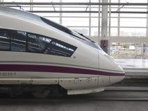 Detalle del tren de alta velocidad Foto de archivo libre de regalías