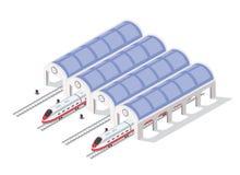 Tren de alta velocidad moderno rápido libre illustration