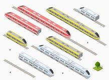Tren de alta velocidad moderno rápido ilustración del vector