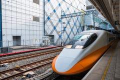 Tren de alta velocidad de Taiwán en la estación de Zuoying Imagenes de archivo