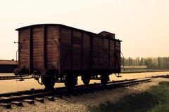 Tren de Auschwitz Imágenes de archivo libres de regalías