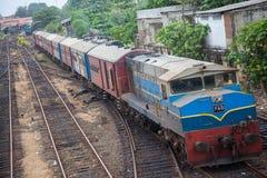 Tren de Badulla en Colombo Imagenes de archivo