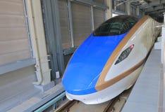 Tren de bala de Hokuriku Sinkansen Japón Foto de archivo libre de regalías