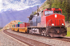 Tren de carga. Imagen de archivo libre de regalías