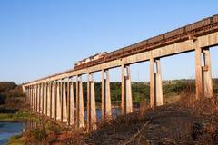 Tren de carga de Carajas en el puente Fotos de archivo