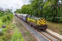 Tren de carga de GySEV Foto de archivo libre de regalías