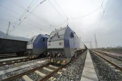 Tren de carga de HeXie del chino Foto de archivo libre de regalías