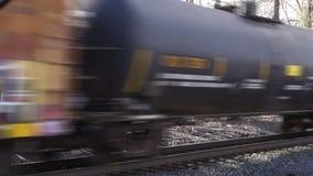 Tren de carga móvil almacen de metraje de vídeo
