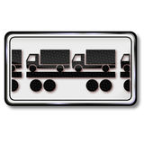 Tren de carromatos y camión en los carros Imagenes de archivo
