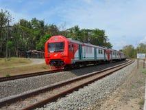 Tren de cercanías Yogyakarta a solas Kutoarjo foto de archivo