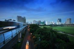 Tren de cielo en Bangkok Foto de archivo