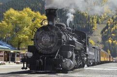 Tren de Durango Silverton Narrow Gauge Railroad Foto de archivo