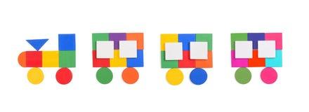 Tren de figuras geométricas Fotografía de archivo libre de regalías