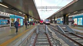 Tren de la estación de Roma Termini metrajes