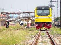 Tren de la locomotora diesel Fotos de archivo