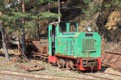 Tren de la mina Fotografía de archivo