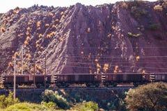 Tren de la mina Fotos de archivo