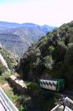 Tren de la montaña de Montserrat, España Fotografía de archivo