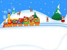 Tren de la Navidad Fotografía de archivo