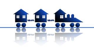 Tren de las propiedades inmobiliarias Imagen de archivo libre de regalías