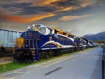 Tren de las vacaciones imagenes de archivo