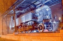 Tren de Lightpainted Fotografía de archivo libre de regalías