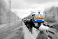 Tren de llegada imagenes de archivo
