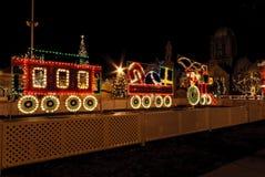 Tren de luces Foto de archivo libre de regalías