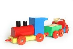 Tren de madera del juguete fotografía de archivo