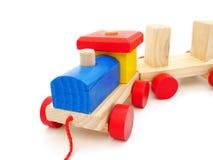 Tren de madera en aislado fotografía de archivo