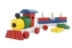 Tren de madera multicolor Fotos de archivo libres de regalías