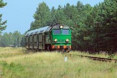 Tren de pasajeros Foto de archivo libre de regalías