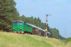 Tren de pasajeros Imágenes de archivo libres de regalías