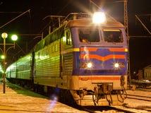 Tren de pasajeros eléctrico Fotos de archivo libres de regalías