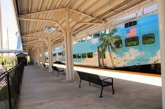 Tren de pasajeros en la estación, FL Fotografía de archivo