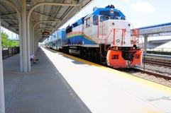 Tren de pasajeros en la estación, la Florida Fotos de archivo