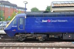 Tren de pasajeros en Reino Unido Fotografía de archivo