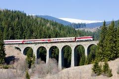 Tren de pasajeros, Eslovaquia imágenes de archivo libres de regalías