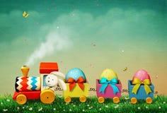 Tren de Pascua ilustración del vector