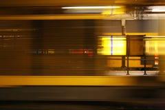 Tren de punto negro Fotografía de archivo