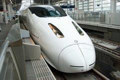 Tren de punto negro de Shinkansen Fotografía de archivo libre de regalías