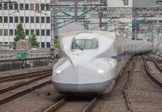 Tren de punto negro de Shinkansen Imagen de archivo libre de regalías