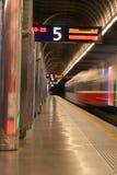 Tren de salida Foto de archivo libre de regalías