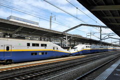 Tren de Shinkansen Foto de archivo