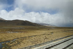 Tren de Tíbet Imagen de archivo libre de regalías