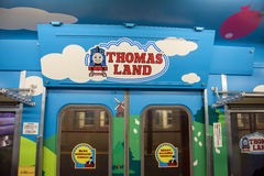 Tren de Thomas en Kawaguchiko, Japón fotos de archivo