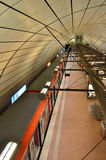 Tren del bahn de S de la estación de tren del aeropuerto de Hamburgo Imagen de archivo libre de regalías