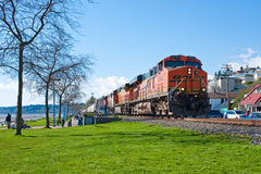 Tren del carbón de BNSF Foto de archivo