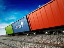 Tren del cargo Fotografía de archivo libre de regalías